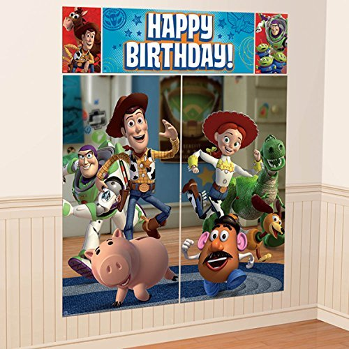 Disney Toy Story Scene Setters Wall Banner Decorating Kit Birthday Party Supplies -
