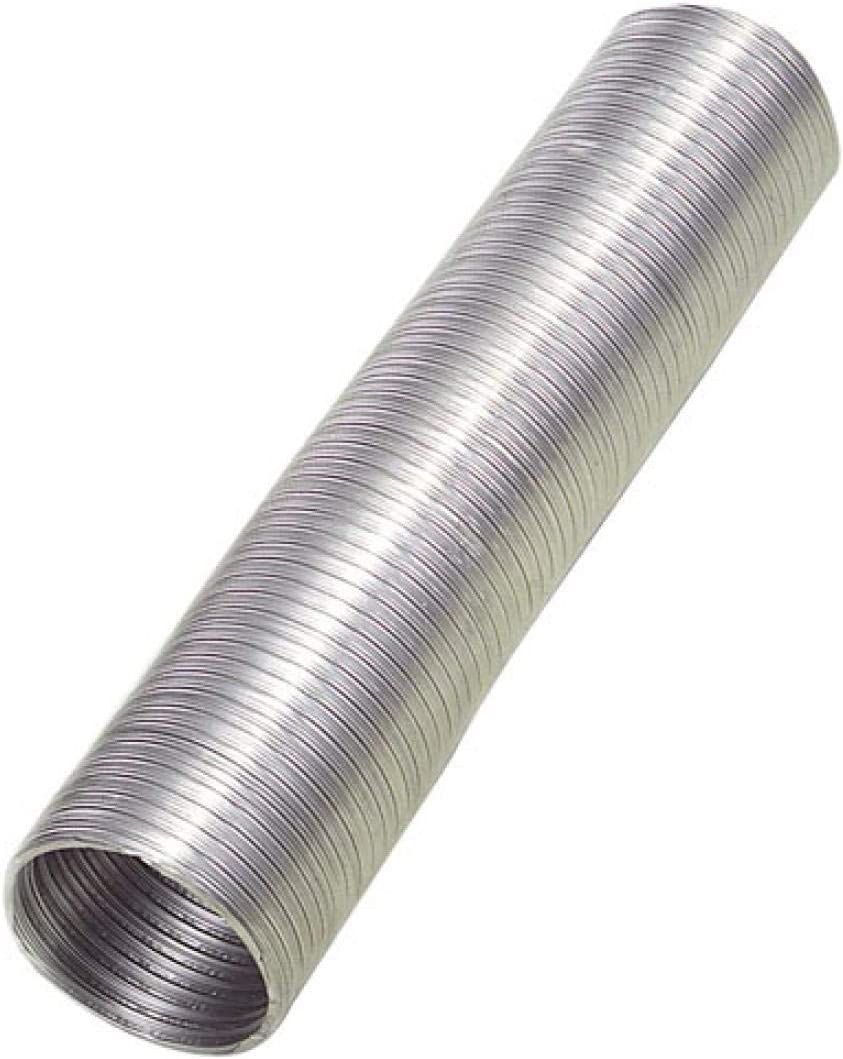 Wolfpack Tubo Aluminio Compacto Ø 110 mm, Ventilador Extractor, Tubo Campana, Ventilación Doméstica, Color Gris