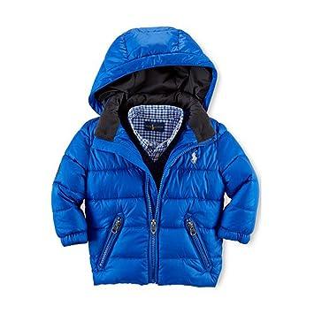 eadc892c7 Amazon.com: Ralph Lauren Polo Baby Boys Blue Racer Puffer Jacket (18 ...