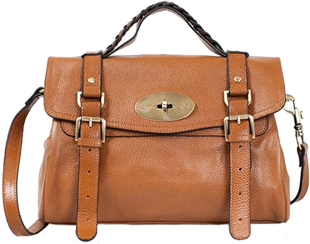 Cowhide Satchel Shoulder...
