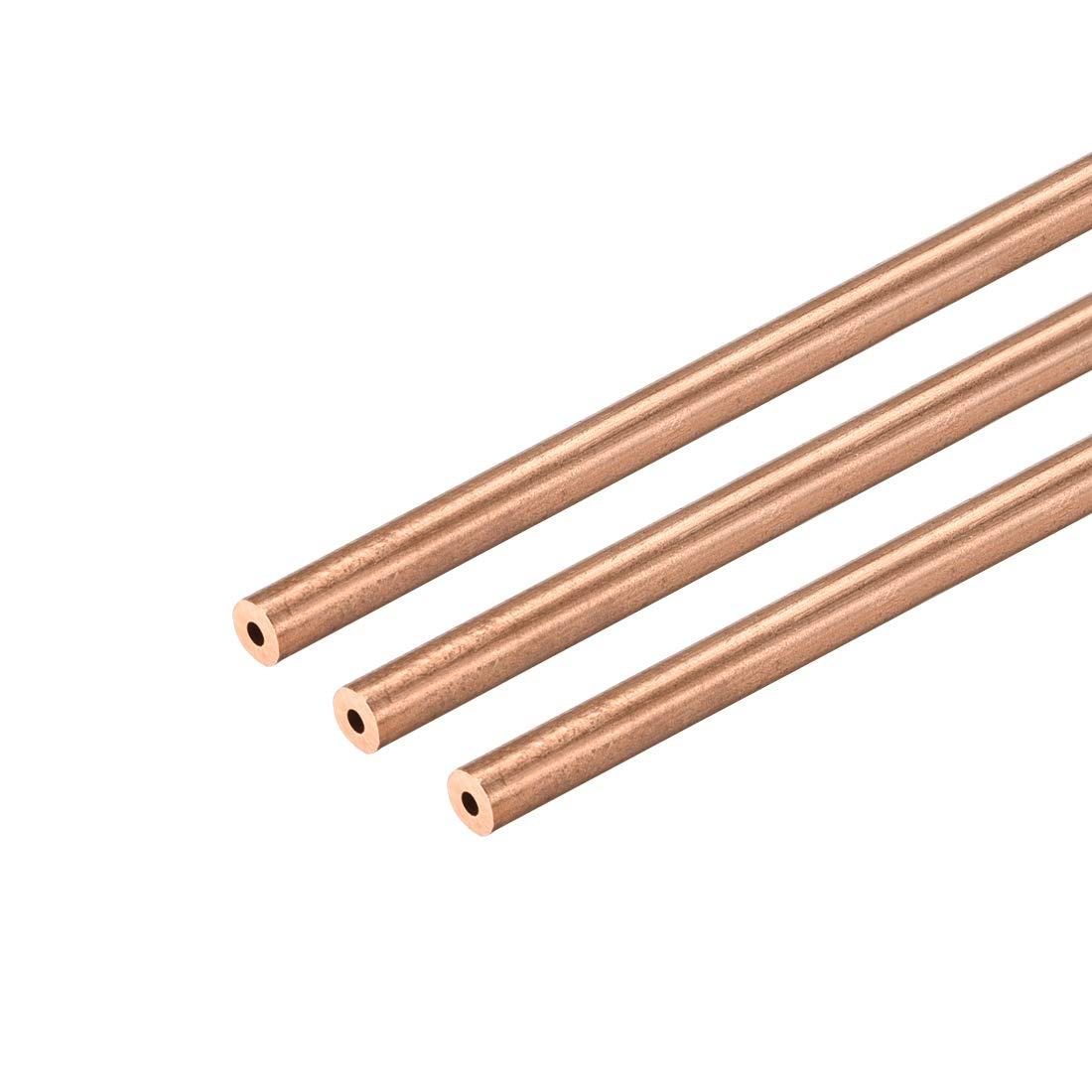 uxcell Copper Round Tube 9mm OD 1mm Wall Thickness 300mm Long Hollow Straight Pipe Tubing 3 Pcs