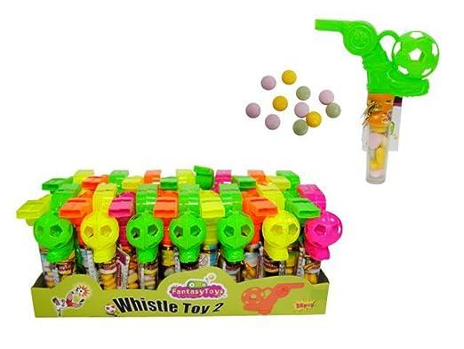 Lote de 30 Mini Juguetes Pitos con Caramelos