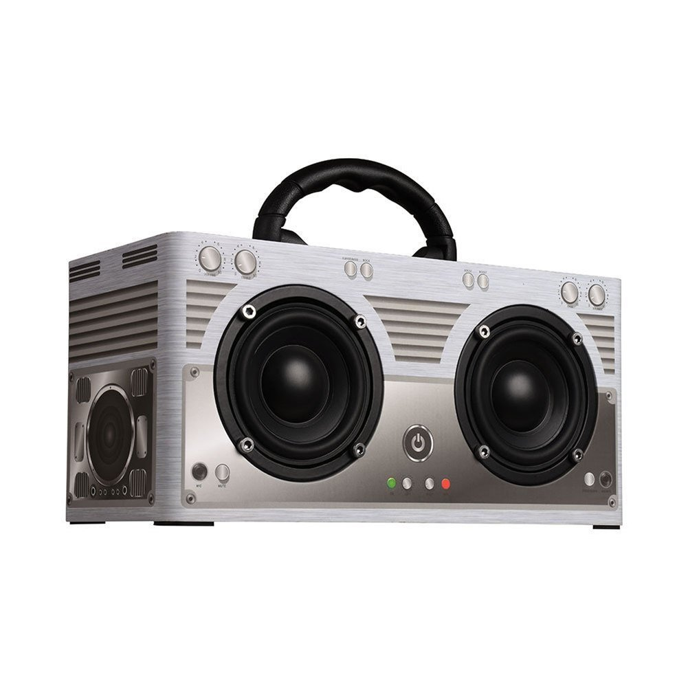 Portable Outdoor Bluetooth Speakers 20W Retro Wooden Bluetooth Home Speaker with Double Sterco, Mobile Speaker Support TF Card and Aux Playback.