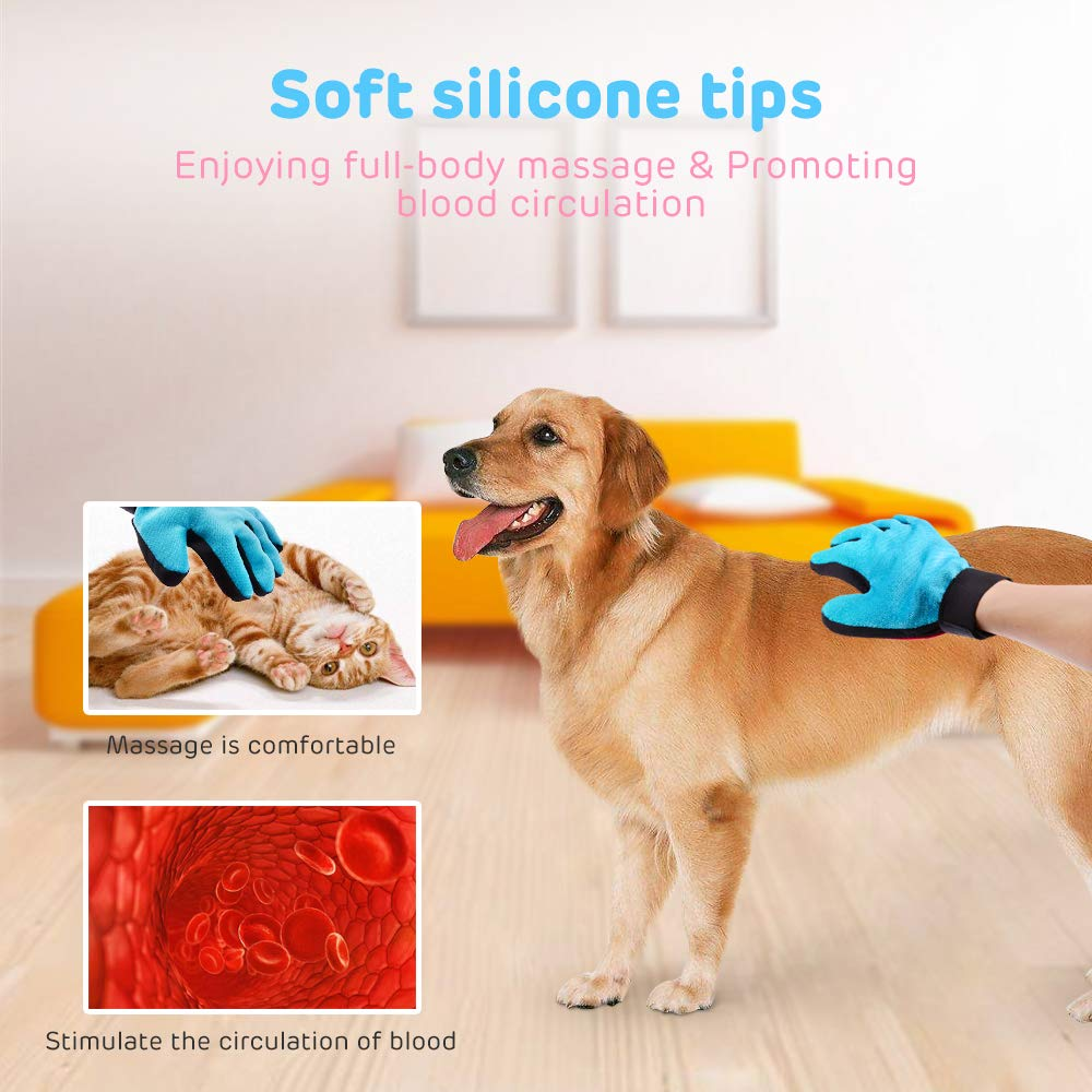 November Spring - Cepillo de Limpieza para Mascotas, 2 en 1, Masaje Suave para Perros y Gatos: Amazon.es: Productos para mascotas