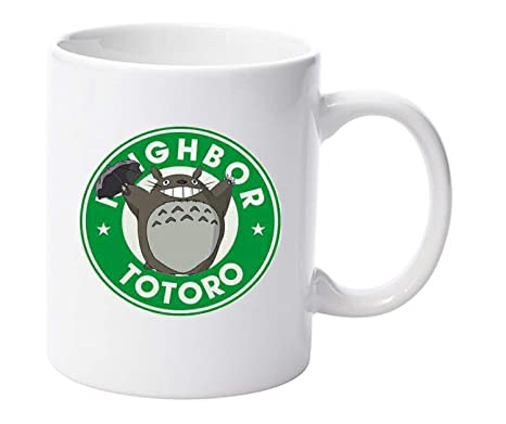 My Neighbor Totoro Starbucks Parody Mug Anime Mugs Gift Funny