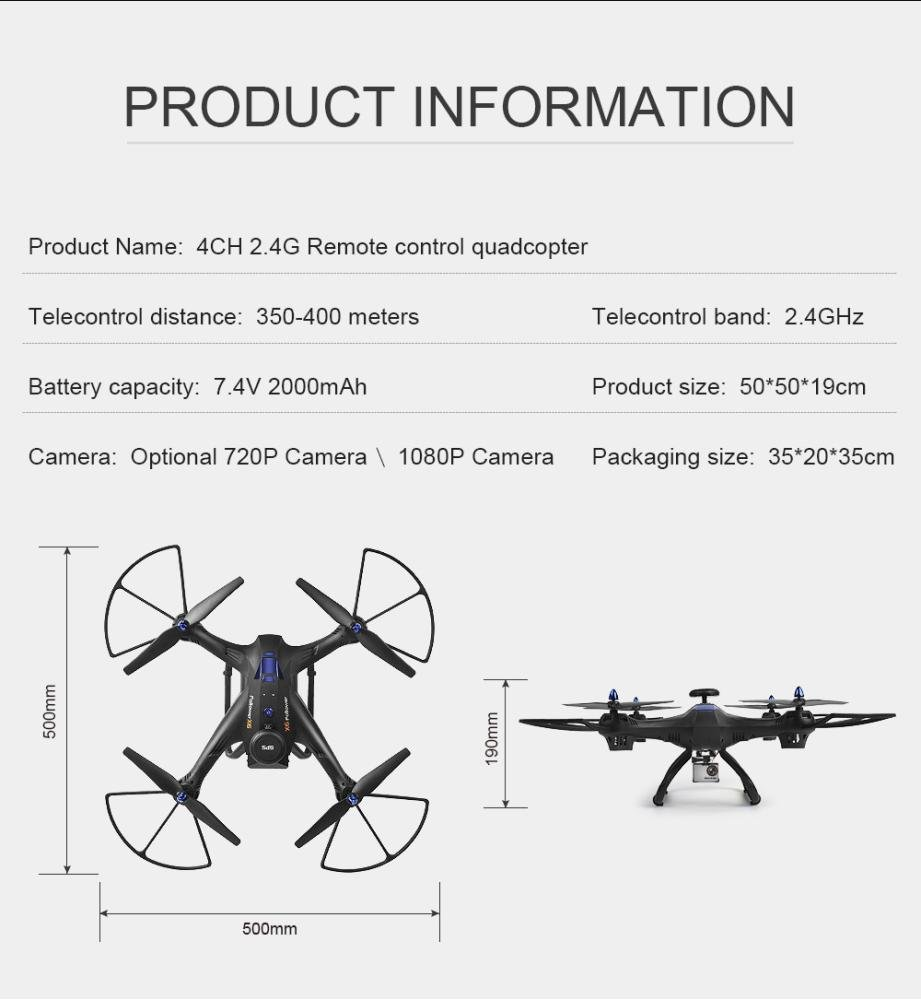 Gbell X183S 5G Drone with 1080P HD Camera WiFi FPV 6-Axis Gyro GPS Drone LED Follow Me - Large RC Quadcopter - Best Birthday New Year Gifts for Boys Girls Kids Adults,Black White (Black) by Gbell (Image #7)