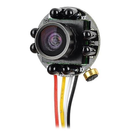 Gran Angular Mini HD CCTV Cámara de vídeo y salida de audio para interior de vigilancia