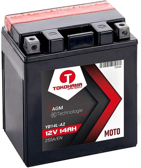Tokohama Agm Motorrad Batterie 14ah 12v 255a En Yb14l A2 12n14 3a 14ah Yb14l A2 Baumarkt