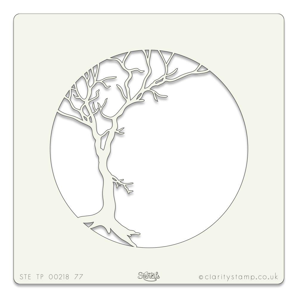 Winter Trees Aperture Stencil 7 x 7 Inches Claritystamp