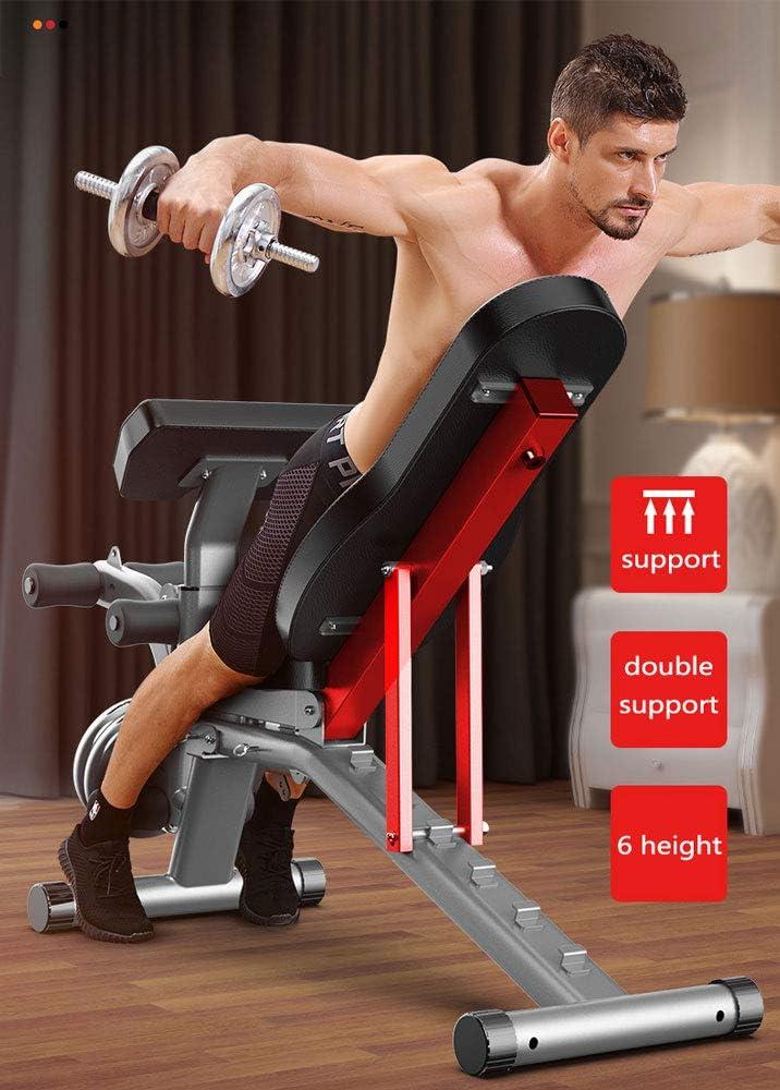 Banco Plegable Banco de Prensa Silla de Fitness p/ájaro Volador Banco de Peso en casa Equipo Multifuncional de Fitness Sentado WUKALA Banco de Pesas