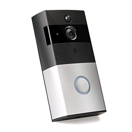 d9d7df412662 Wireless Video Doorbell Wi-Fi Enabled, Smart Home Door Bell 720P HD WiFi  Security Camera with Motion Detection, Real-Time Two-Way Video Intercom, ...