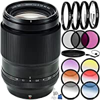 Fujifilm XF 90mm f/2 R LM WR Lens Bundle with Accessory Kit (24 Items)