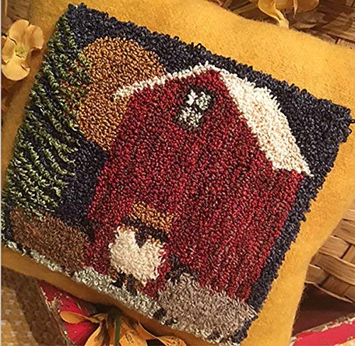 Punch Needle Embroidery HARVEST MOON Pillow
