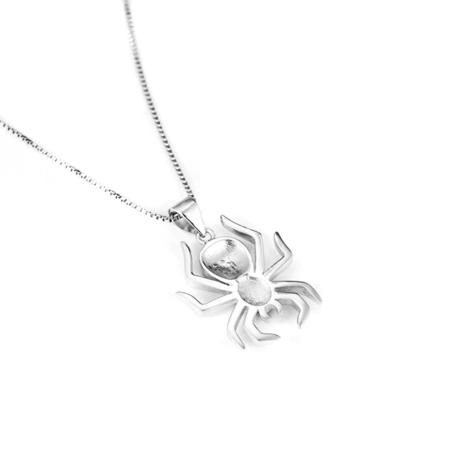 CS-DB Pendants Necklaces Silver Black/&White Crystal Lucky Spider Jewelry Girls