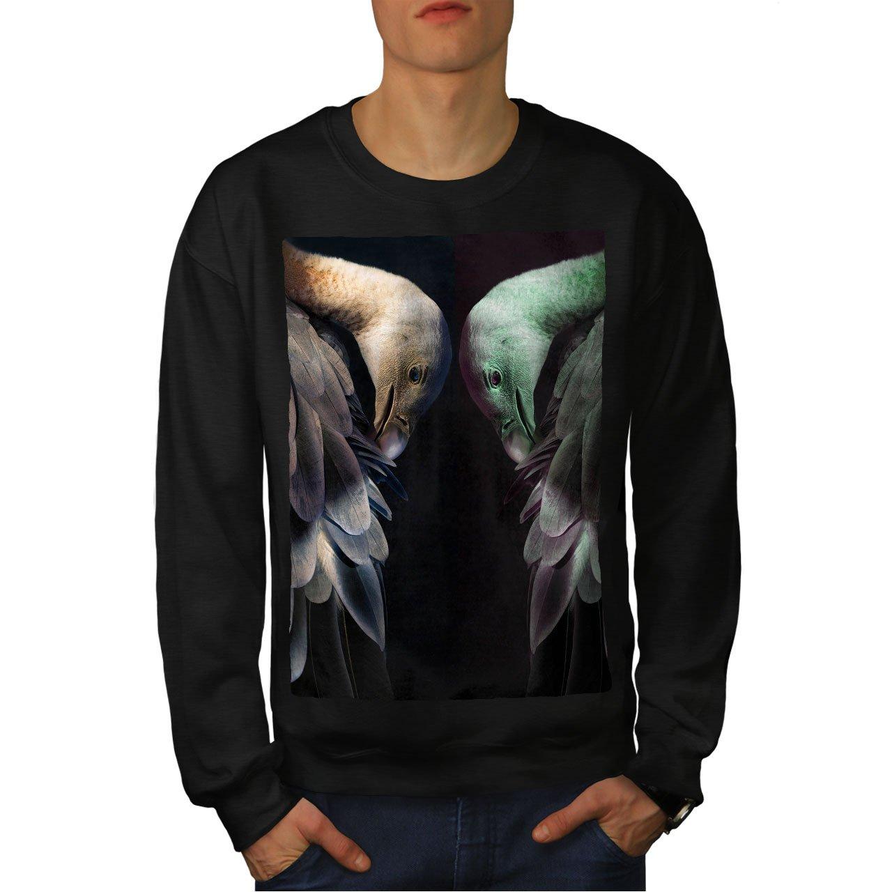Bird Casual Jumper wellcoda Ostrich Bird Art Animal Mens Sweatshirt