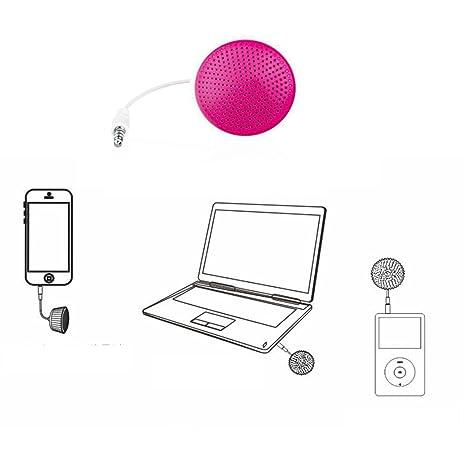 Mini Micro portátil para tartas en forma de música estéreo altavoz para teléfono móvil ordenador portátil Rosa: Amazon.es: Electrónica