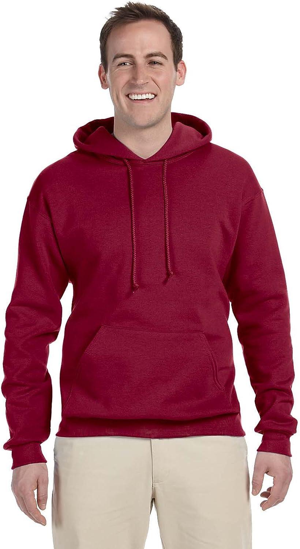 996 Jerzees mens 8 oz -CARDINAL-M 50//50 NuBlend Fleece Pullover Hood