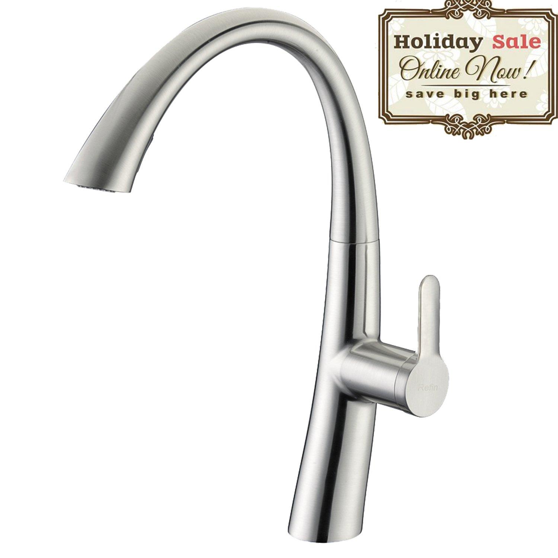 Kitchen Sink Faucet Delle Rosa Built-in Sprayer Kitchen Sink Faucet ...