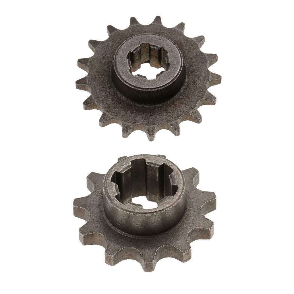 perfeclan 2 Unids 11T 17T Cadena de Pi/ñ/ón Delantero para 49cc Motor Mini Pocket Dirt Bike