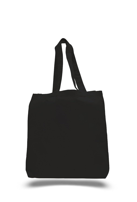 セットアップ bagzdepot 100 Bottom %コットンキャンバストートバッグin Bulk with Bottom B076HF9TJ5 Gusset – with 12パック(ブラック) B076HF9TJ5, ASIANTIQUE アジアンティーク:42c339b1 --- 4x4.lt