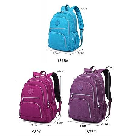 Amazon.com | Female Backpack Women School Teenage Girls Mochila Feminina Laptop Bagpacks Travel Bags Casual purple red 27CMX13CMX37CM 1368 | Backpacks