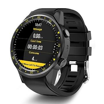Teepao GPS Reloj Inteligente Deportivo con Doble Cámara Altímetro, Apoyo 2G SIM Tarjeta Corazón Tasa, 1.3 Pulgadas Pantalla Táctil Reloj Inteligente para ...