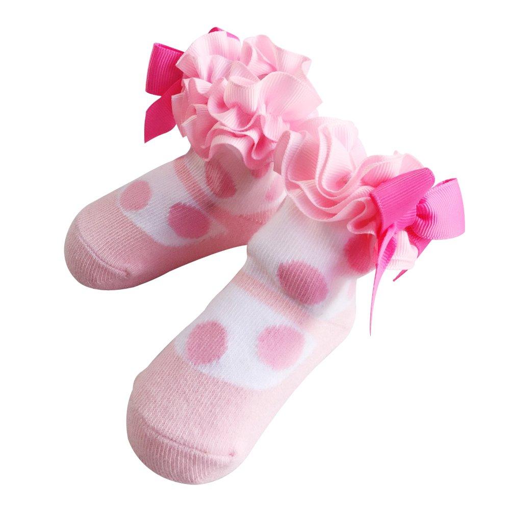 Sanlutoz Cute Newborn Baby Socks Lovely Soft Elastic Ankle Socks for Baby Girls