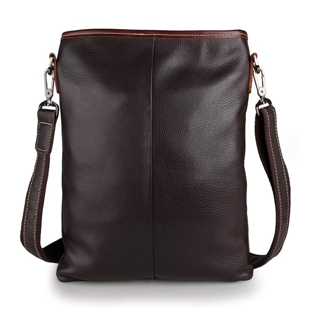 Amyannie Laptop Messenger Bag Men's and Women's Leather Postman Shoulder Bag Can Hold IPad Tablet Bag Briefcase Laptop Messenger Bag (Color : Brown) by Amyannie (Image #4)