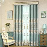 pureaqu Blackout Curtains 96 Inch Long Grommet Thermal Insulated Embroidered Window Curtain Drapes For Living Room Bedroom Energy Saving/Noise Reducing Room Divider 1 Panel W75 x H96 Inch Review
