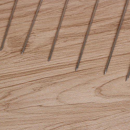 LINL Extérieurs pour la Maison Outils de Pique-Nique de Camping brochettes de rôti Ronde de 15st brochettes Ustensiles de Cuisine Barbecue en Acier Inoxydable Grill,15cm 22cm