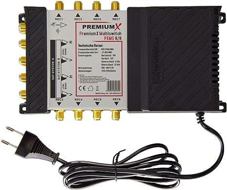 OPTICUM Multischalter 9//16 Multiswitch 2 Quattro LNB 0,1 SAT Full HD 4K UHD HDTV