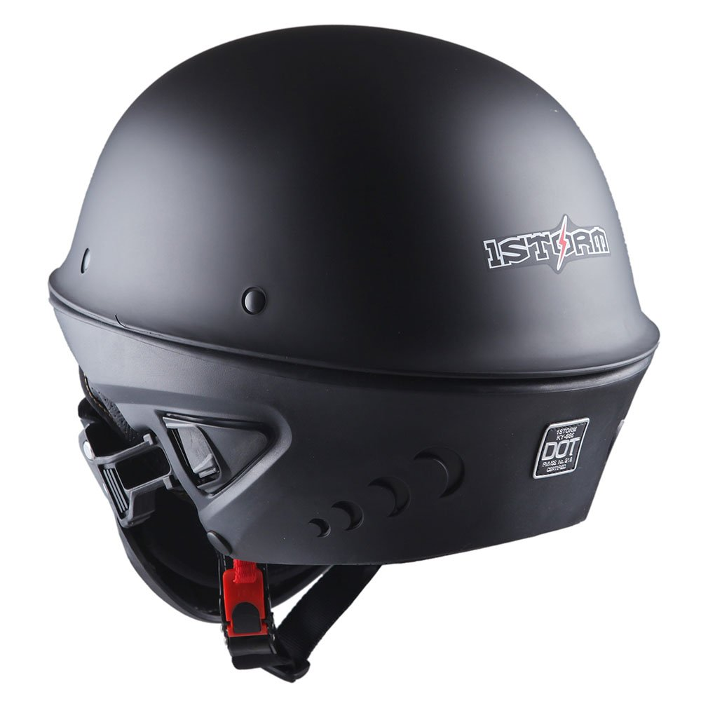 11814167 1STorm Motorcycle Half Face Helmet Death Trooper Matt Black, Size Medium  (22.4-22.8 Inch) - HKY666 < Helmets < Automotive - tibs