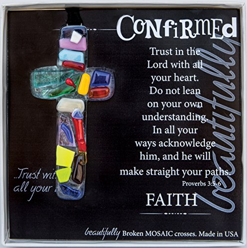 (The Grandparent Gift Handmade Mosaic Confirmation Cross for Girls or)