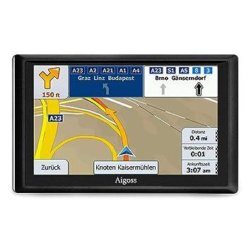 EU UK GPS Sat Navi,Navigationf/ür Touch Screen Auto PKW 7 Zoll LKW Navigationsger/ät mit Lebenslang Kostenlosem Kartenupdate Blitzerwarnung POI Sprachf/ührung Fahrspurassistent 2018 Karten f/ür 52