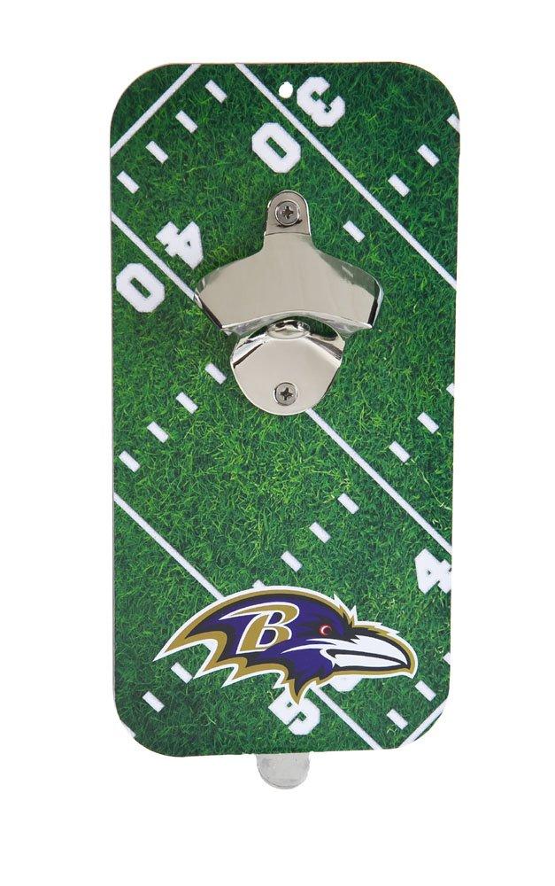 Team Sports America NFL Baltimore Ravens Magnetic Clink N Drink Bottle Opener, Small, Multicolored
