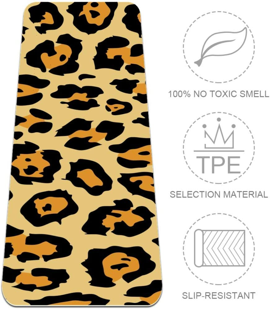 Yoga Mat, Animal Tiger Painting, Reversible Extra Thick Exercise & Fitness Mat for All Types of Yoga, Pilates & Floor Exercises