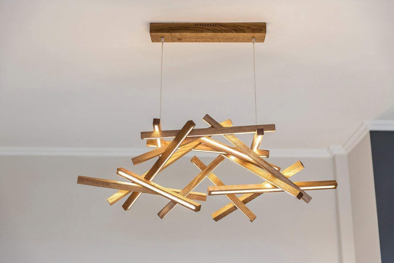 Amazon com: Wooden Chandelier-INTERSTELLAR XL-LED-Loft