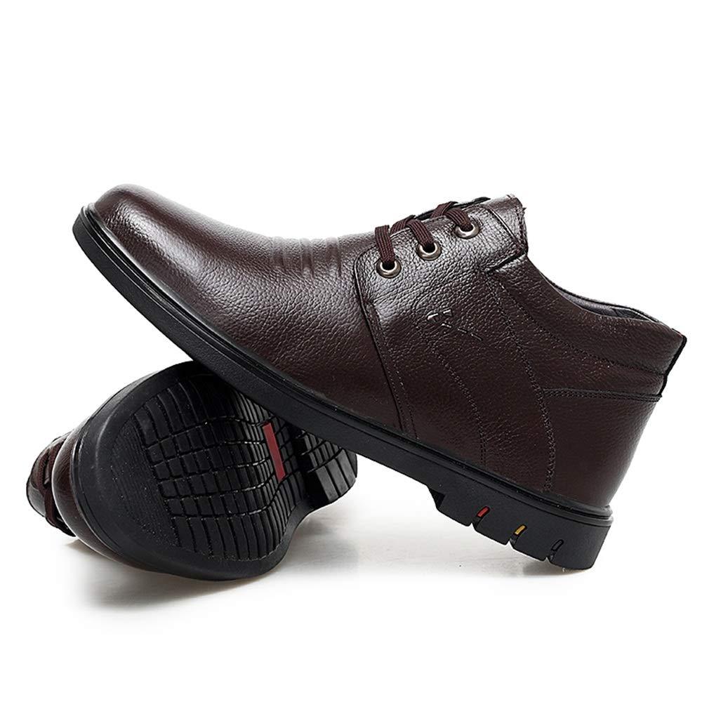 JIALUN-Schuhe 2018 2018 2018 Neue Herrenmode Stiefeletten Casual komfortable runde Kappe mittleren Alters High Top Fleece gefütterte Stiefel (Farbe   Schwarz, Größe   44 EU)  ead840
