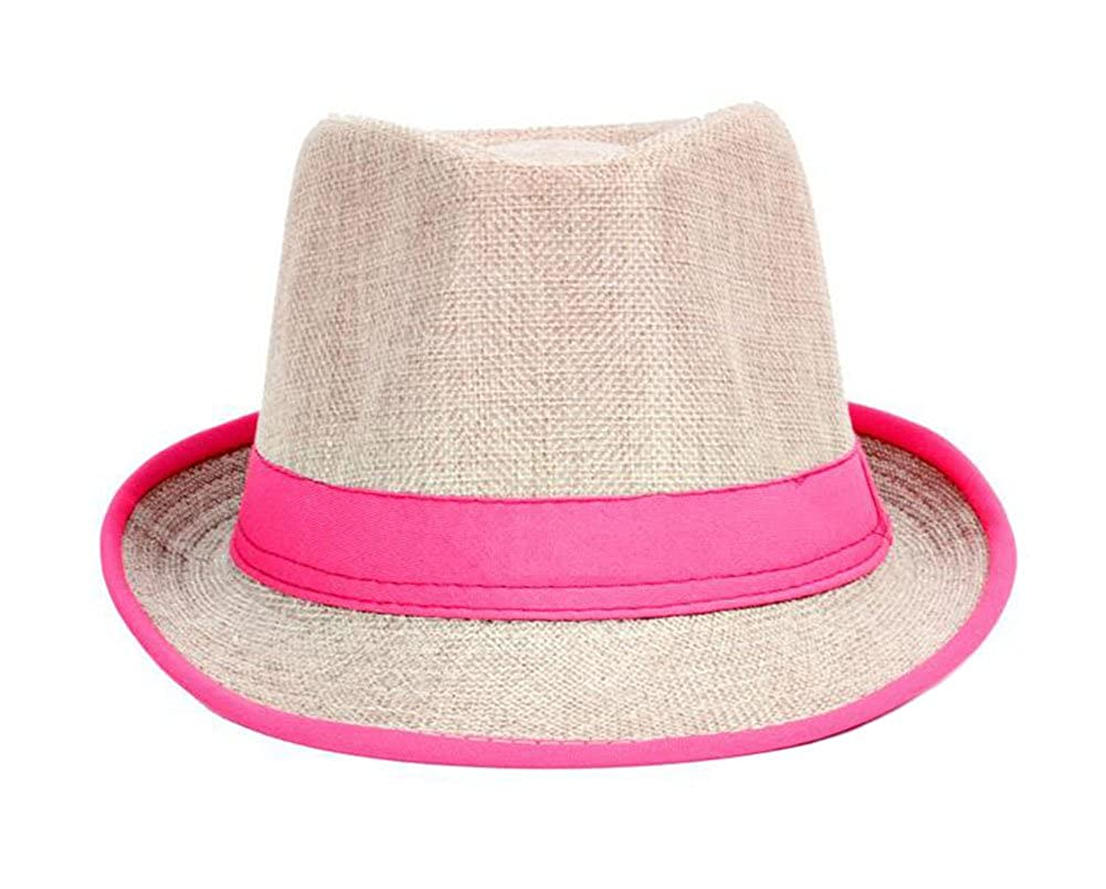 d423e1ecdaa Qingsun Unisex Fedora Hats Straw Summer Sun Beach Hat Jazz Caps Fedora Hats  Panama Bowler Hats