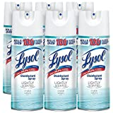 Lysol Disinfectant Spray, Lightly Scented Crystal Waters, 75oz (6X12.5oz)