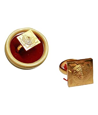 Meru Shree Yantra Ring In Copper Gold Plated Free Size Adjustable bz9Vyk
