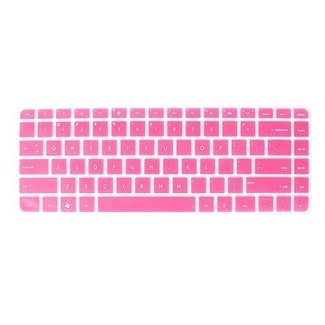 Protector de teclado para ordenador portátil Rosa Transparente para HP G4/431/430/