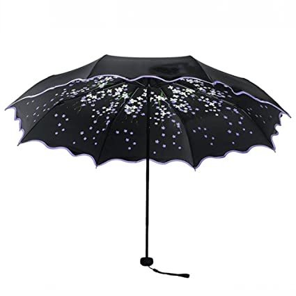 Protección solar protección UV PARAGUAS paraguas plegable de plástico negro clima,púrpura