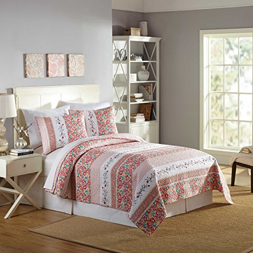 Mary Jane's Home Bright Blooms Quilt, King 108X90'', Multicolor (Mary Jane Bedding)