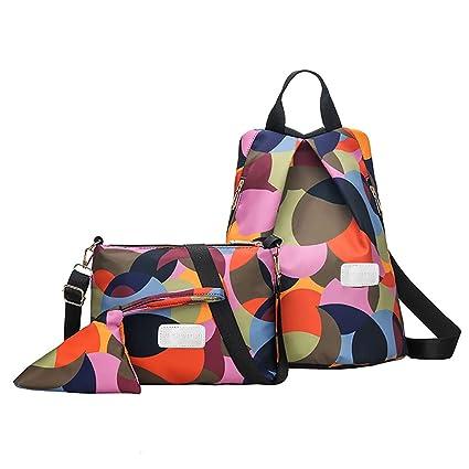 Viaggio Donna Tracolla Oxford Antifurto Portatile Multicolore Moda Zaino Borsa