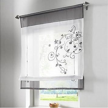 fastar cortinas salon modernas bordado de flor cortina visillos en organdi paramento superior y bordado