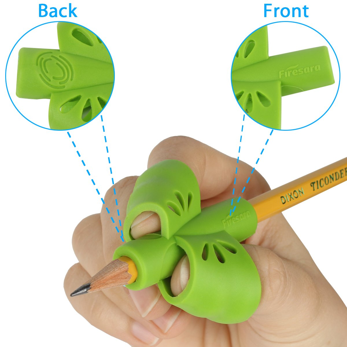 4PCS Firesara Original Handwriting Correction Finger Exclusive Butterfly Wings Design Assorted Grip Trainer for Righties Kids or Children or Preschoolers or Adults Pencil Grips