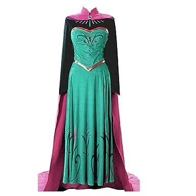 Amazon.com: EA4 Adult Elsa Coronation Dress Halloween Costume ...