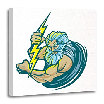 Amazon Com Emvency Canvas Wall Art Print Electrician God