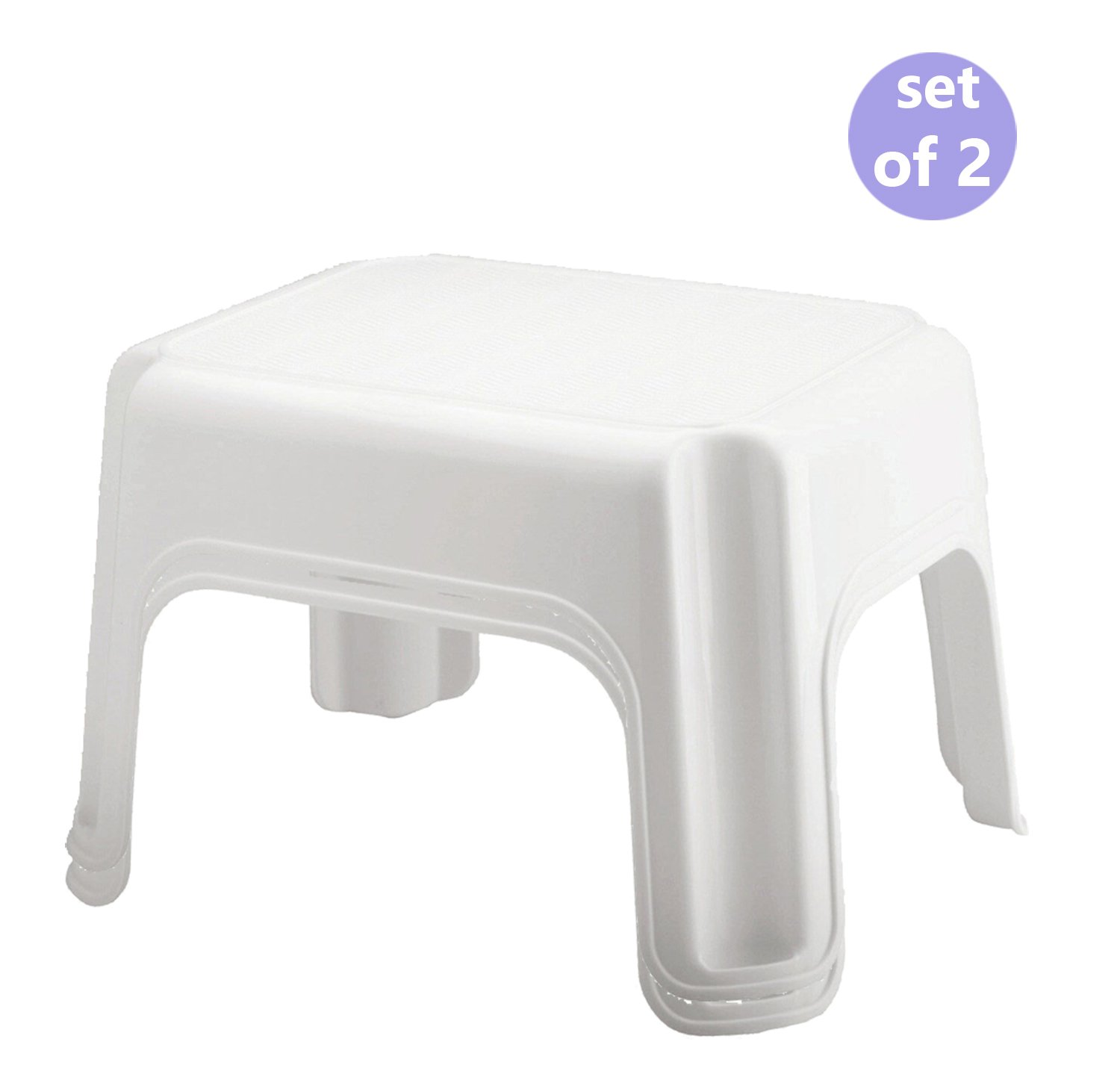 Stool Step White Utility 300lb by Rubbermaid